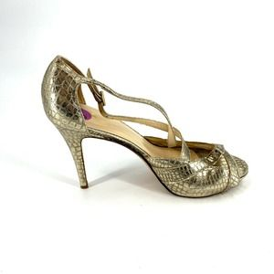 Kate Spade Strappy Sandals Size 8.5 Gold Shoes